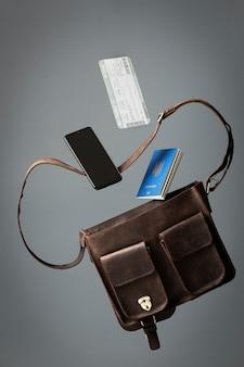 バッグと旅行のコンセプト