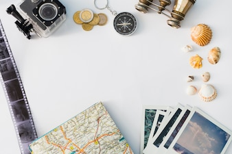 Travel concept with map background