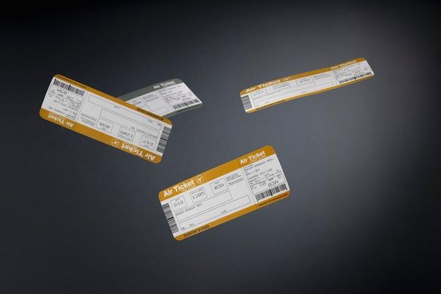 チケット付きの旅行コンセプト