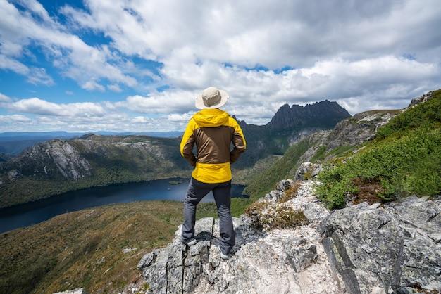 Travel in cradle mountain np, tasmania, australia