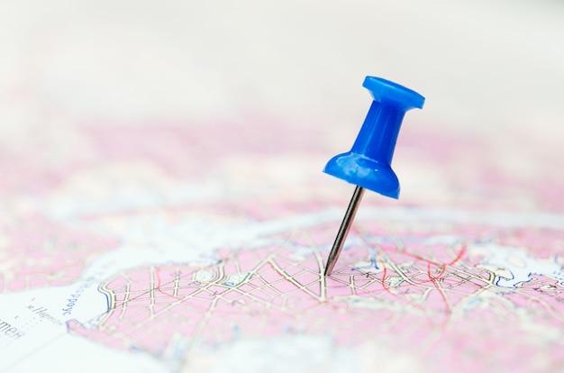 Пункт назначения, синий значок на карте
