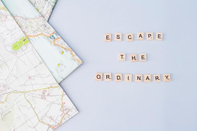 Состав элементов путешествия с буквами