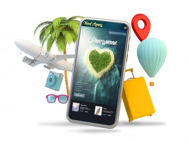 Travel elements phone honeymoon