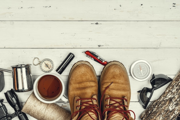 Travel hiking equipment tools