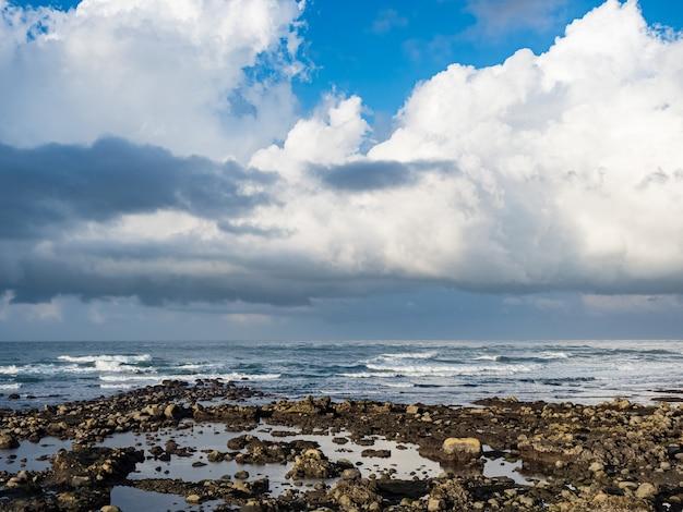 Путешествие на природе на пляже и тропическом море с голубым небом