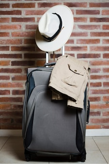Travel luggage ready for trip