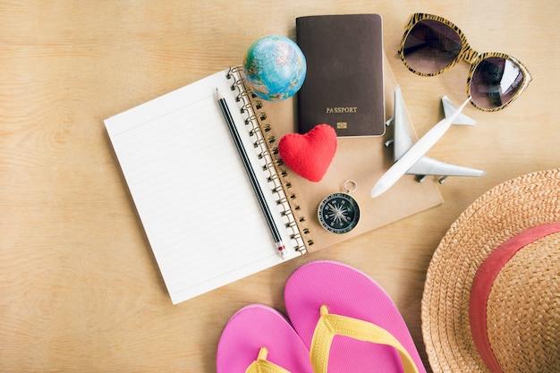 Travel plan, trip vacation, tourism mockup