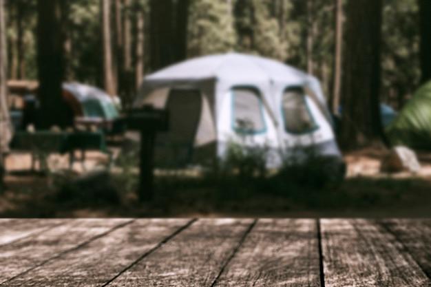 Sfondo del prodotto da viaggio, tenda da campeggio