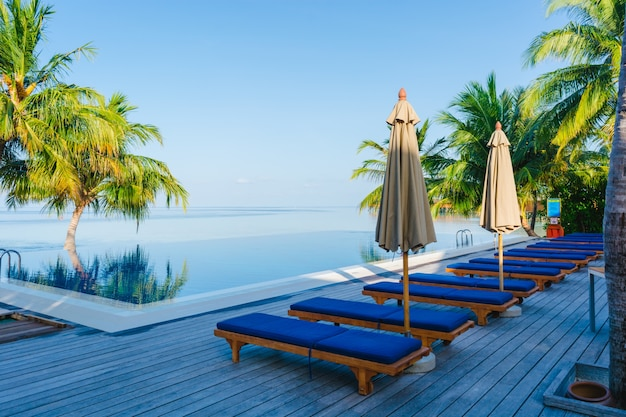 Travel relaxation umbrella luxury hotels