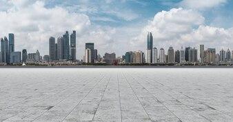 Travel shanghai avenue exterior building skyline