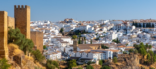 Travel sightseeing cityscape of ronda, ronda vacation in spain