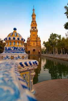 Travel sightseeing at seville palace in spain