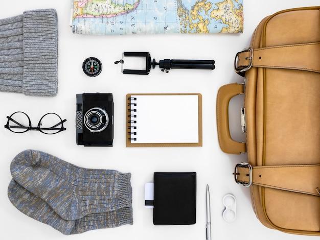 Пакет плоский натюрморт путешествия