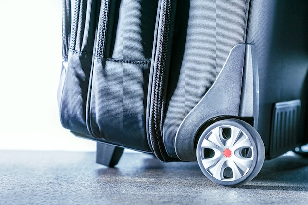 Travel suitcase.  active and travel lifestyle concept.