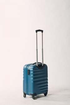 Travel suitcase in blue