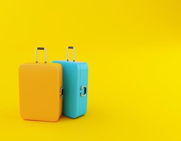 Travel suitcase.