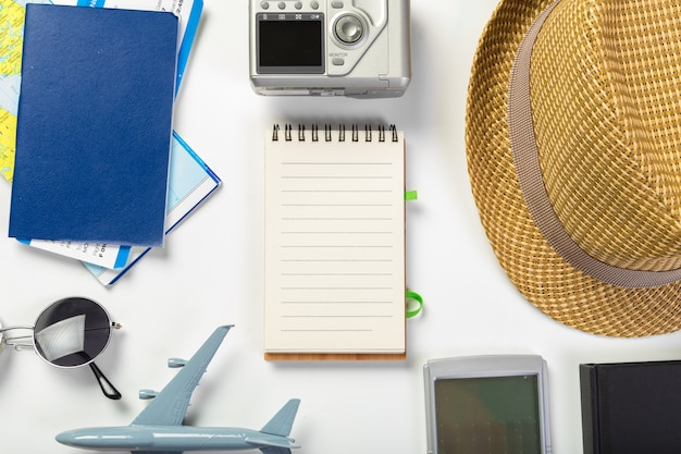 Travel, summer vacation, tourism and objects