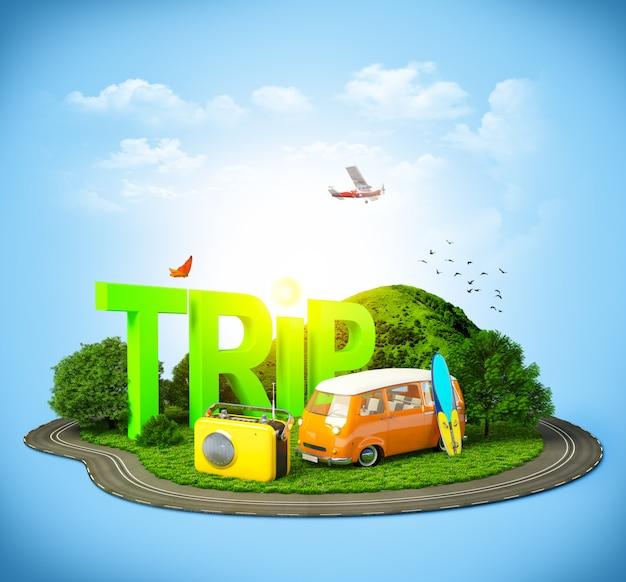 Travel through world