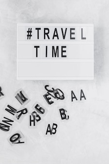 Travel time board with harsh symbol
