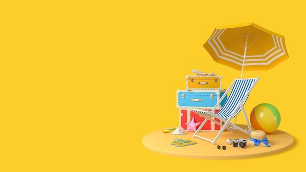 旅行者アクセサリービーチ旅行夏休み休暇コンセプト背景