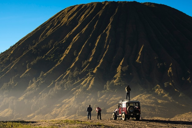 Travelers in the volcano lifestyle travel