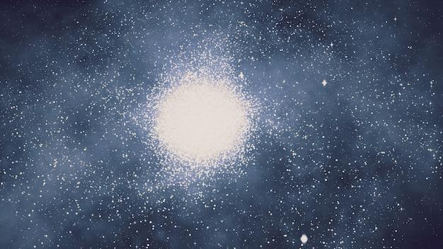 Путешествие в космосе вокруг галактики с нашей солнечной системой 3d иллюстрации