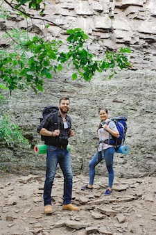 Traveling trip together, freedom and active lifestyle concept.