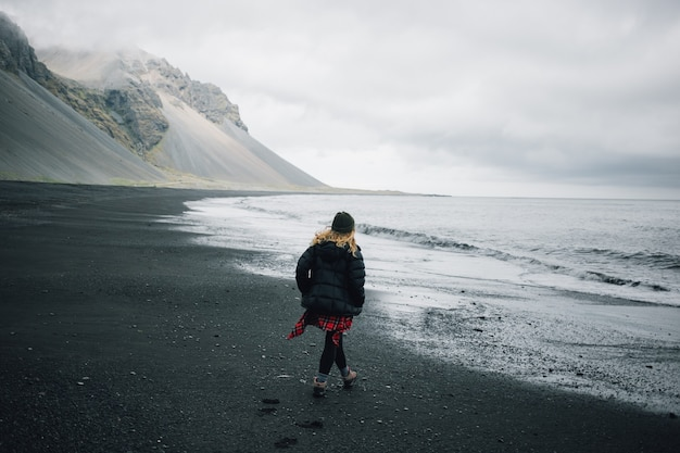Traveller explores rugged landscape of iceland