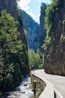 Travelling bicaz canyon road