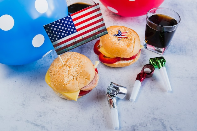 Treat and decor for independence day