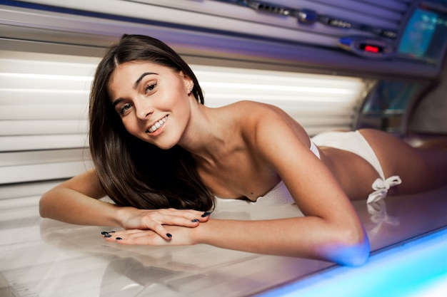 Treatment beauty beautiful solarium bed