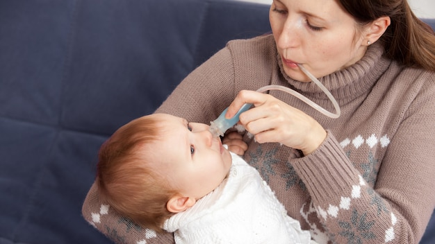 Treatment of the common cold in baby