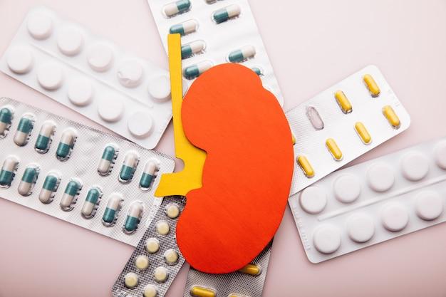 さまざまな錠剤による腎臓病の治療または予防。