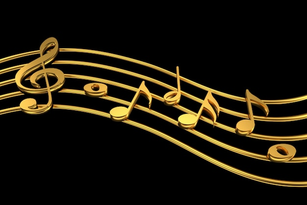 Treble clef and music notation