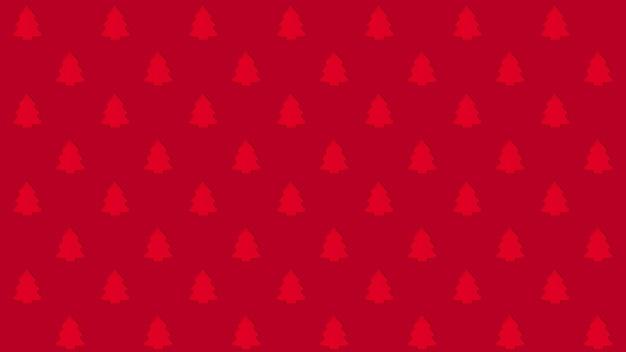 빨간색 배경 패턴에 나무입니다. 판매, 할인, 광고를 위한 크리스마스 배경 개념입니다.