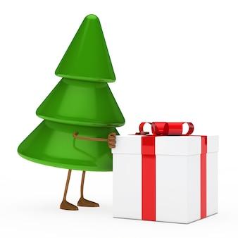 Дерево толкая подарок