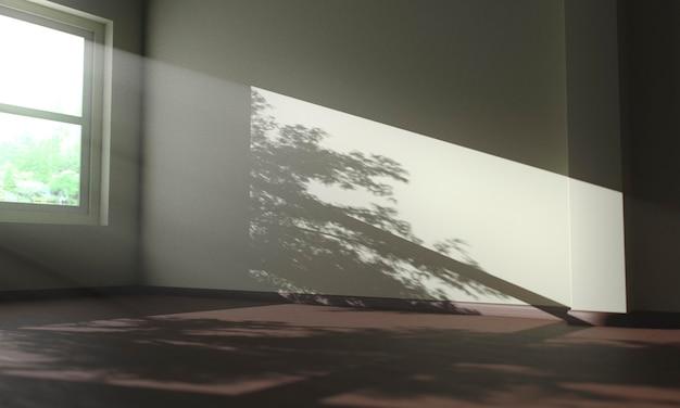 家の中の木の影