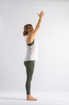 Tree (urdhva vrikshasana) yoga postures (asana)