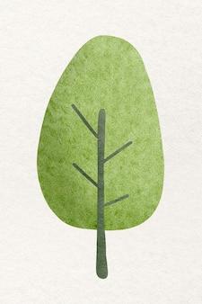 Tree in watercolor design element