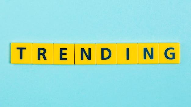 Trending word on scrabble tiles