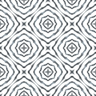 トレンディなオーガニックグリーンボーダー。黒と白の珍しい自由奔放に生きるシックな夏のデザイン。テキスタイル対応の真っ白なプリント、水着生地、壁紙、ラッピング。有機タイル。