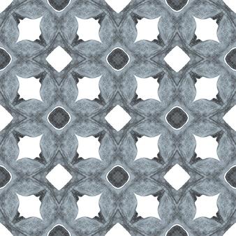 Trendy organic green border. black and white fancy boho chic summer design. textile ready fetching print, swimwear fabric, wallpaper, wrapping. organic tile.