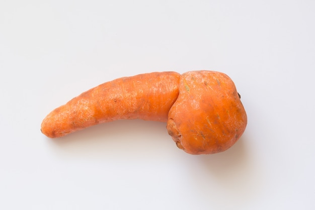 Trendy organic ugly carrot