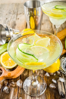 Trendy summer alcohol cocktail tom collins