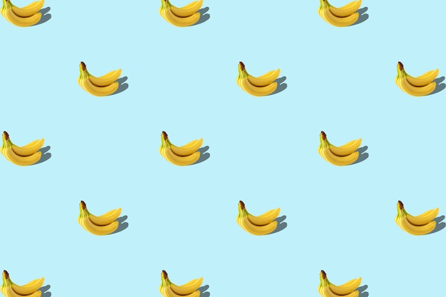 Trendy summer pattern with banana blue