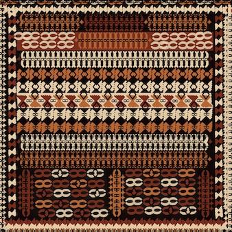 Модный турецкий узор килим фон с декоративными элементами и ретро-цветами