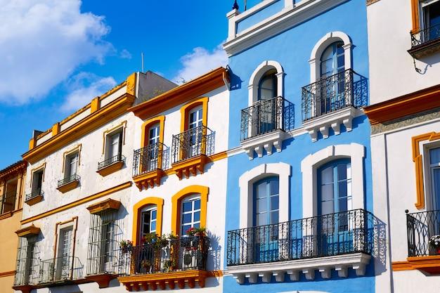 Triana barrio seville facades andalusia spain