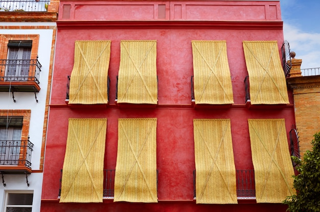 Triana barrio of seville facades andalusia spain