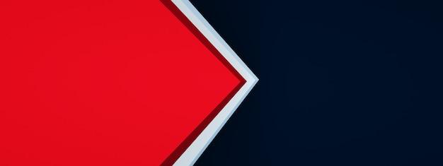디자인, 3d 렌더링, 파노라마 레이아웃을 위한 삼각형 화살표 모서리 배경 겹침 레이어