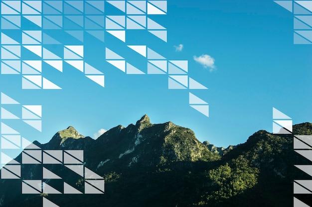 Triangle geometric graphic pattern template